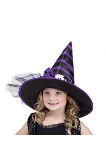 Kinder Hexenhut schwarz-lila
