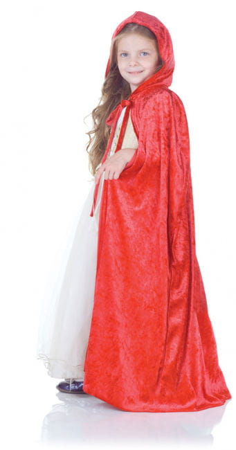 Velvet red cape for children