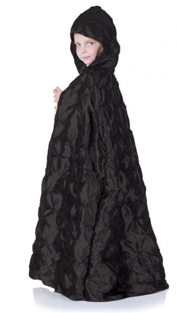 Black hooded cape for children