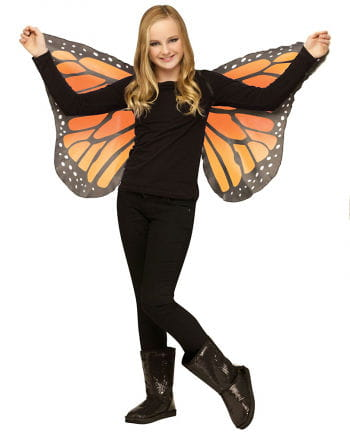 Children orange butterfly wings