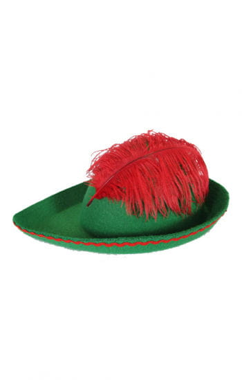 Kinderhut Robin Hood with marabou feather