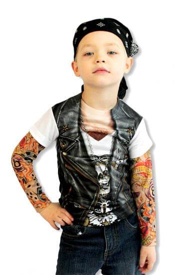 kinder tattoo shirt rockershirt tattoo rmelhemd horror. Black Bedroom Furniture Sets. Home Design Ideas