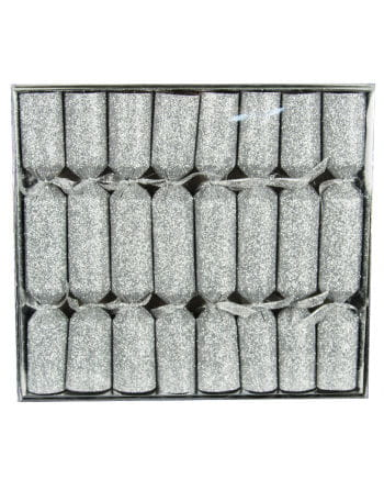 Crackers glitter effect Silver 8 St.