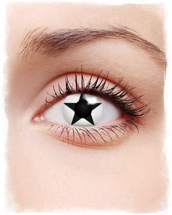 Contact lens Black Star White