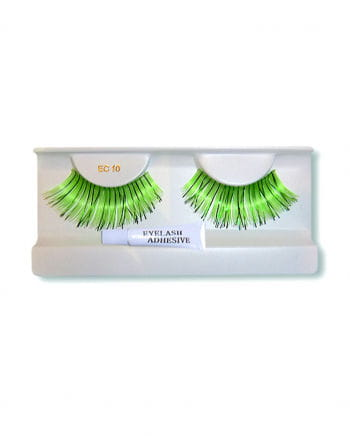 Real hair eyelashes green