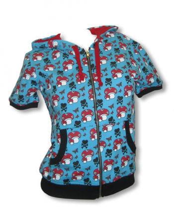 Short sleeve hoodie blue M / 38