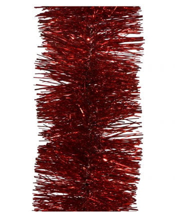 Tinsel garland - Christmas red 2,7m