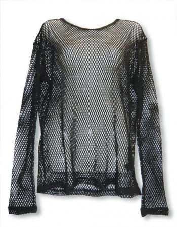 Long Sleeved Fishnet Shirt Size L