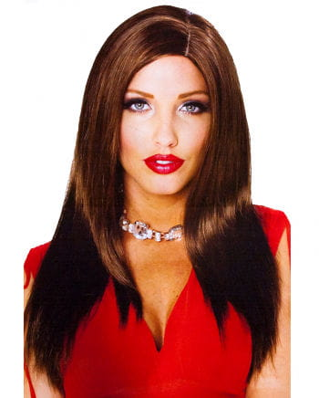 Long hair wig brown