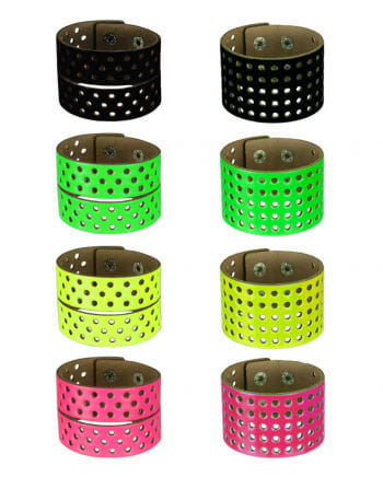Leather Bracelet punched div. Colors