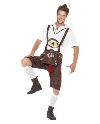 Lederhosen Kostüm mit Bratwurst-Zipfel