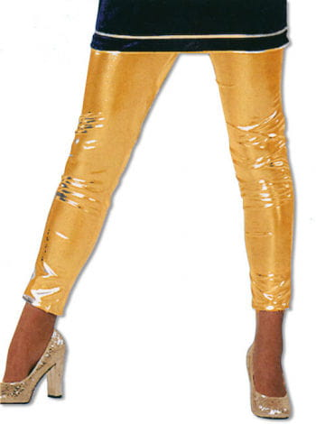 Leggins Gold Glanzoptik S / 36