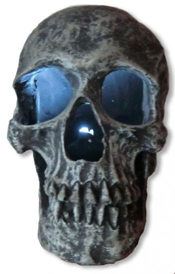 Light Up Skull Stone Grey