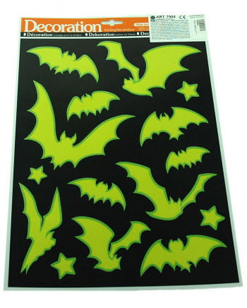 Luminous sticker set bat