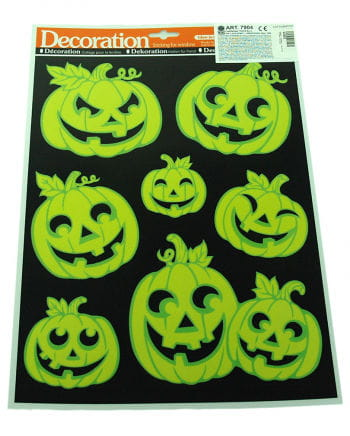 Luminous sticker set Halloween pumpkin