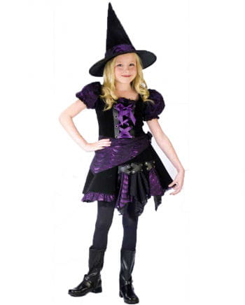 Purple Punk Witch Child Costume S