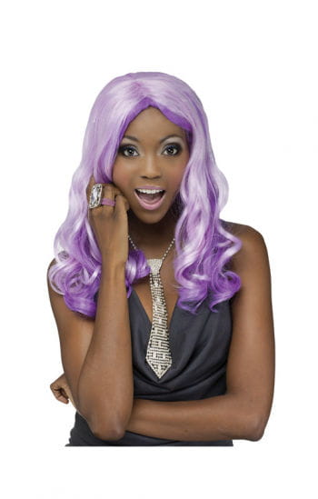 Curly Wig purple-violet