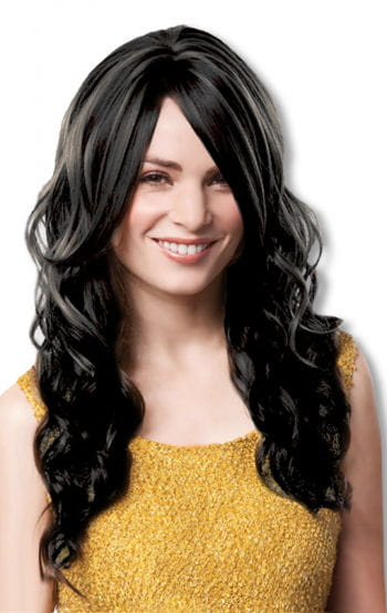 Curly wig black
