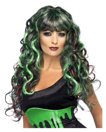 Curly Wig Siren Green Purple