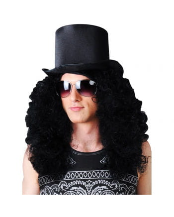 Curly Wig Black Rocker