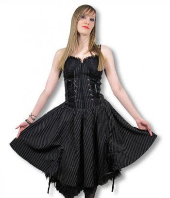 Gothic Pinstripe Dress Medium