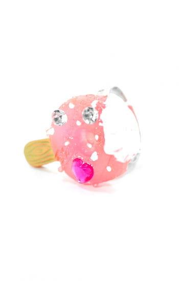Children Jewelry Ring raspberry ice