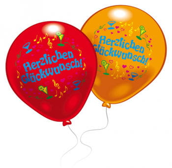 Luftballon Herzlichen Glückwunsch 8 St.
