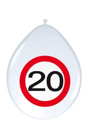 Luftballon Verkehrsschild 20