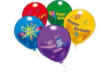 Happy Birthday Luftballons 10 St.