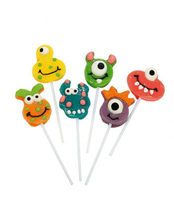 Funny monster lollipops