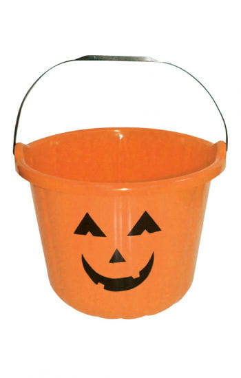 Lustiger Halloween Eimer orange