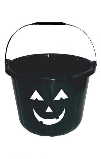 Lustiger Halloween Eimer schwarz
