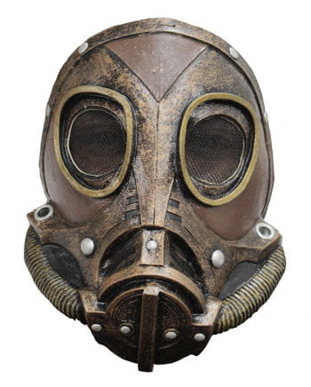 Steampunk latex gasmask