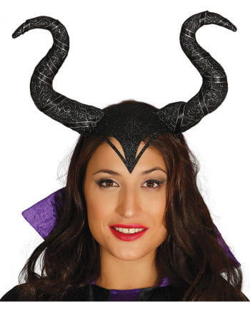 Maleficant headband with horns