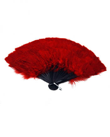 Marabou feather fan red