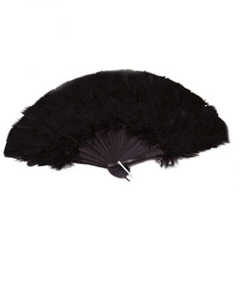 Marabou feather fan black