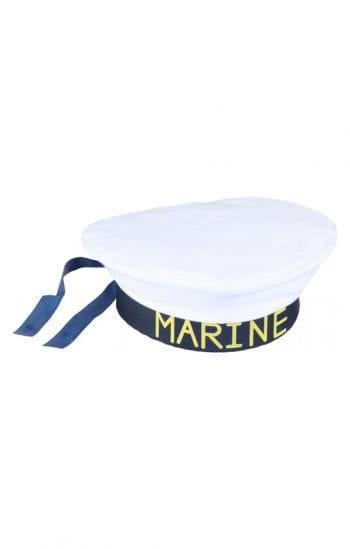 Marine Mütze weiß/blau