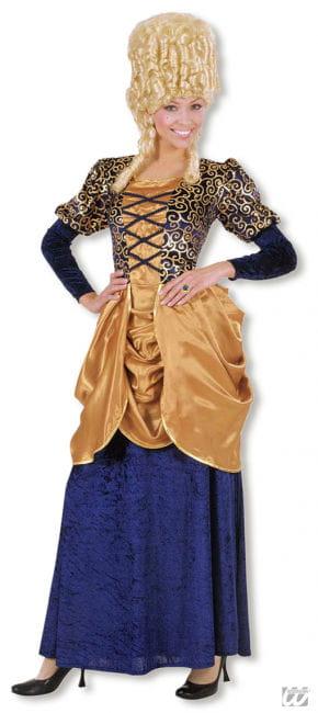 Marquise Kostüm blau/gold XL