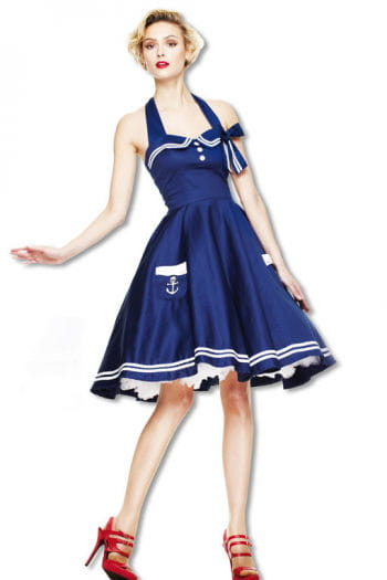 Sailors petticoat dress blue