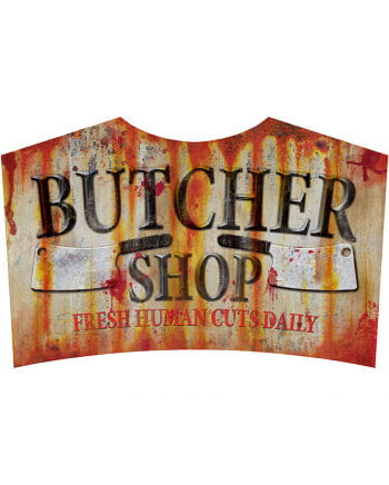 Butcher Shop metal shield