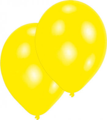 Metallic Yellow Balloons 50 St.