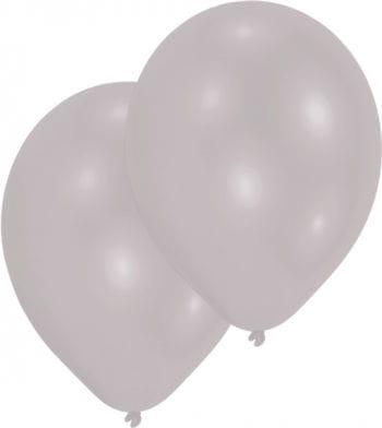 Metallic Silber Luftballons 50 St.