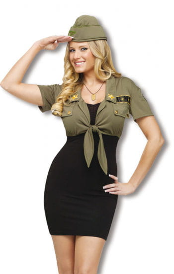 Army Bolero Jacket and Hat
