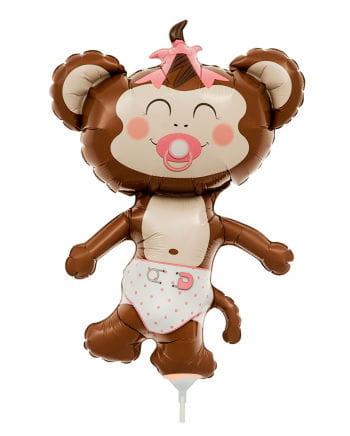 Mini-Folienballon Baby Girl Äffchen