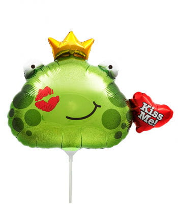 Mini foil balloon Froschkönig