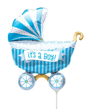 "Mini foil balloon stroller ""It`s A Boy"""