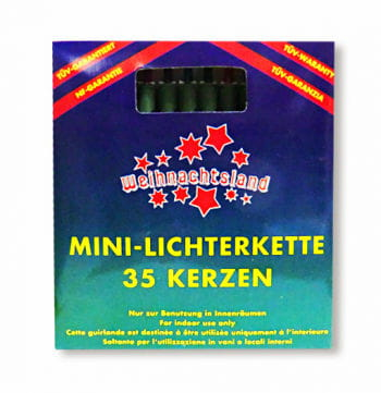 Mini Lichterkette 35 Kerzen bunt