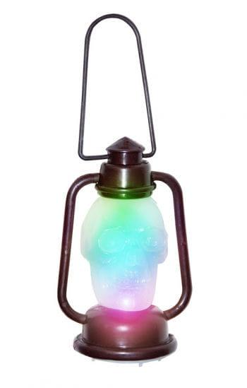 Mini Totenkopf-Laterne mit LED