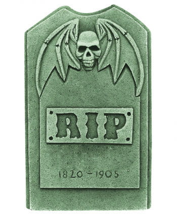 Grave stone with winged skull