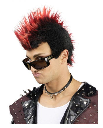 Streaked Punk Wig red
